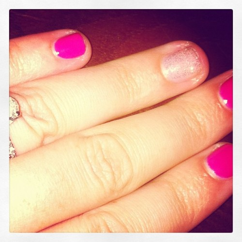 #birthday nails. Love #glitter !!! (Taken with Instagram)