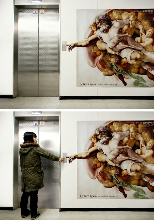 jaymug:  Plastic Surgeon's Elevator Ad - Be Born Again