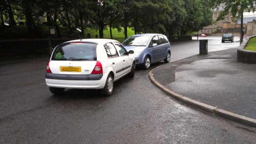 No-one told me I couldn't park on the middle of a corner…