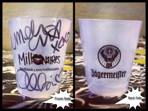 melissamillionaire:  FREE signed shot glass w/ purchase of $30 or more from our Merch store! Limited time only & WON'T EVER be sold! - http://themillionaires.bigcartel.com/  OMG I WANT THIS SOOOO BAD!