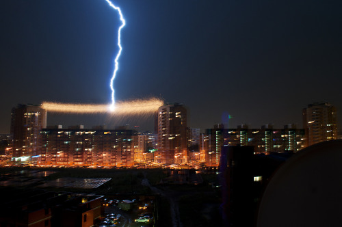 Lightning strike.