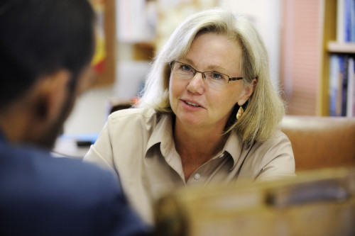 "Virginia Tech professor Patricia Dove was recently elected to the National Academy of Science by her scientific peers. She is one of four Virginia Tech professors to have been so honored. In 2010 Dove was appointed to the C.P. ""Sally"" Miles Professorship of Science, which was established in 1986 through a gift from Melvin ""Cy"" Young. The professorship honors the Virginia Tech graduate who spent 59 years at the university teaching chemistry and coaching athletic teams. Click on the photo to learn more."