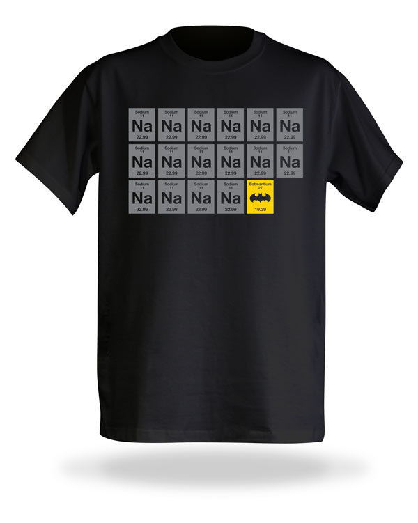 jaymug:  Nananana Batman Periodic Table T-Shirt