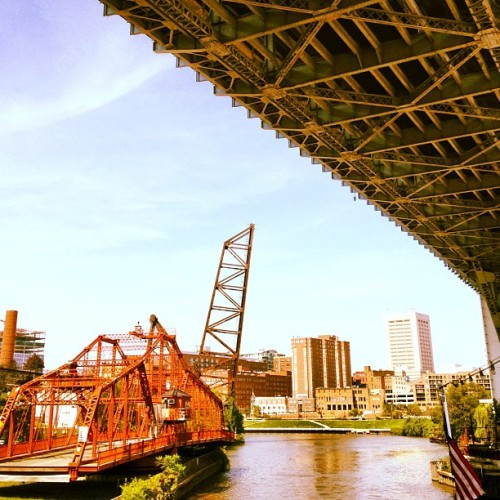 Bridges!  (Taken with Instagram at Cuyahoga River)