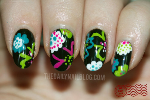 thedailynailblog:  That's a Wrap! I'm a firm believer that inspiration comes from EVERYWHERE! Today mine came from a favorite scarf! :) See the full post