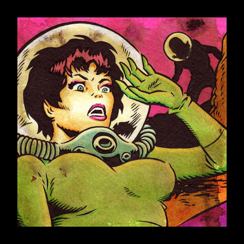 cryptofwrestling:  Astronette by J.R. Williams Ala Wally Wood