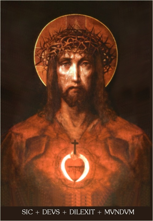 A Sacred Heart image I actually like. According to EWTN the artist is unknown.