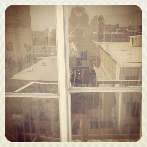 Fire escape chats.  (Taken with Instagram at No Subject)