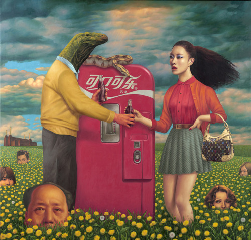 "Here's an amazing painting titled ""Original Sin,"" by Alex Gross."