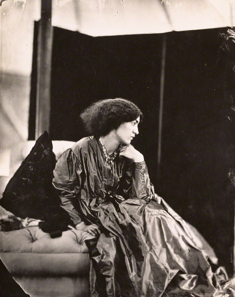 Portrait of Jane Morris (Mrs. William Morris), negative, July 1865; print about 1900, John Robert Parsons