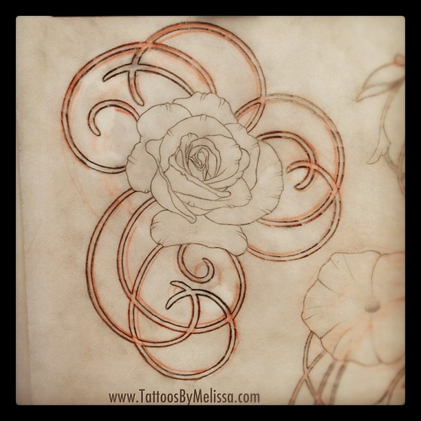 #asketchaday a rose and swirls for today's  doodle (Taken with Instagram)