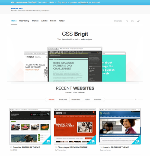 New design for CSS Brigit. Check it out!