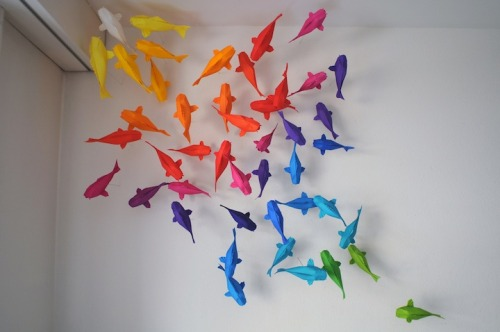 I should do this in my apartment this coming year.  Rainbow Koi Designed by Sipho Mabona  There's a lot more interesting things on the link!