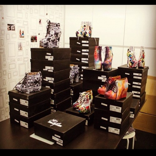 BM staff shoe order arrived!!!!! #blackmilk #blackmilkclothing #solestruck #jeffreycampbell  (Taken with Instagram)