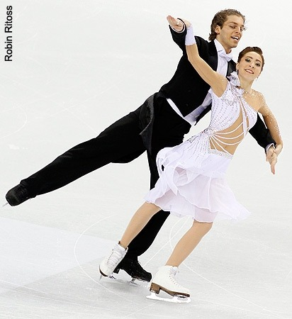 Allison Reed and Otar Japaridze performing the Golden Waltz compulsory dance at the 2010 World Championships.