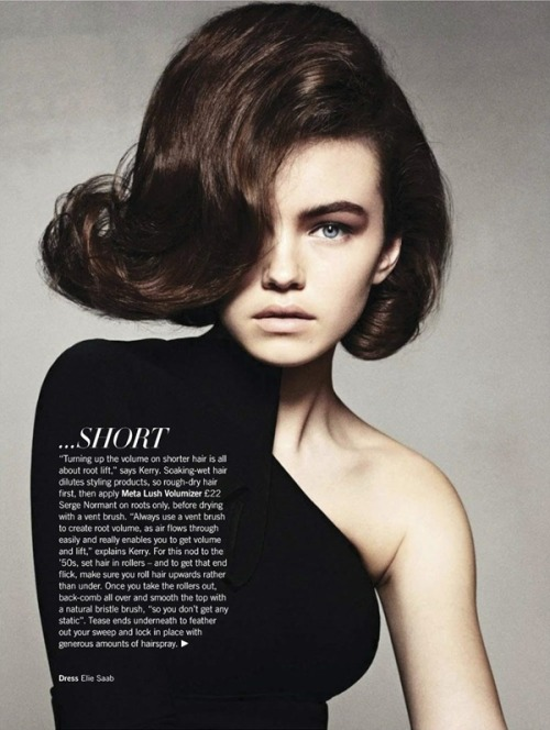 Flipping Out  Harlotte Burgon for Glamour UK August 2012 issue.