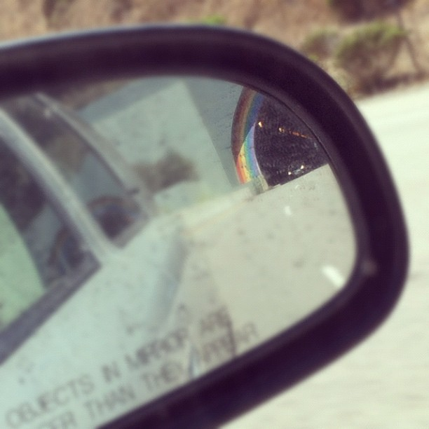 #rainbow #tunnel #rearview #waldo (Taken with Instagram at Waldo / Rainbow Tunnel)