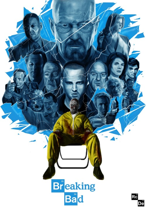 breakingbadamc:  My poster dedicated to this fantastic show.Ryan CrosbyRCDesign