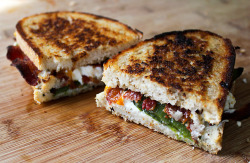 Jalapeno grilled cheese sandwich.