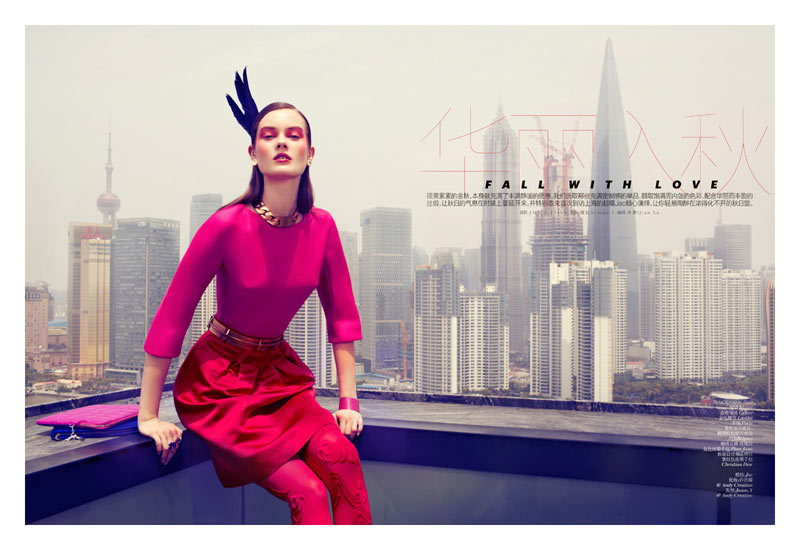 Vogue China August 2012 Model: Jac Jagaciak Photographer: JMN