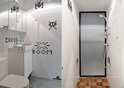 laughingsquid:  Space Invaders Themed Apartment in Hong Kong by OneByNine