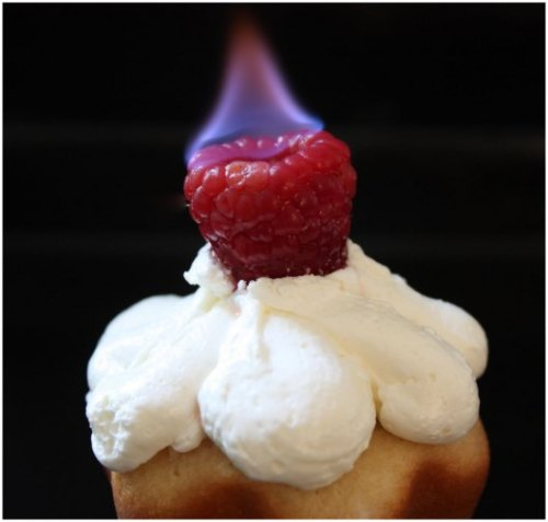 the-cupcakerie:  Flaming Dulce de Leche Cupcakes (recipe)