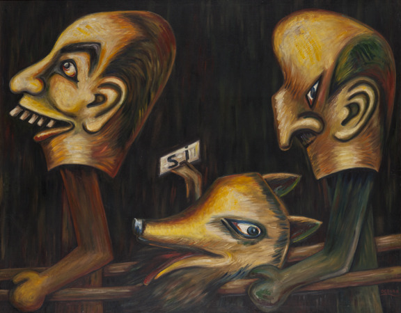 Débora Arango (Colombia, 1907-2005) Plebiscito / Plebiscite, 1958 Oil on canvas Collection of Museo de Arte Moderno de Medellín, Colombia Photo: Carlos Tobón
