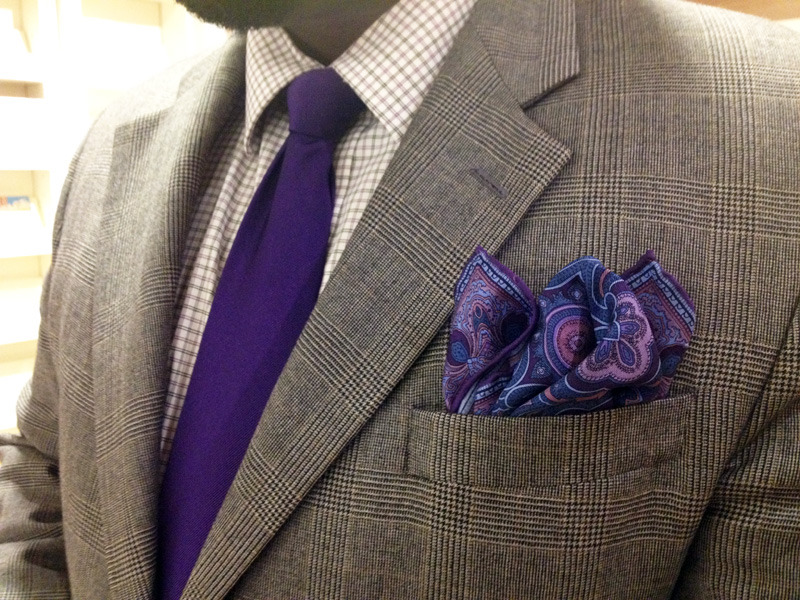 bergdorfgoodman:  Anton's pocketsquare play in Today I'm Wearing