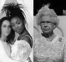 the queen copies brandy's iconic hairstyle