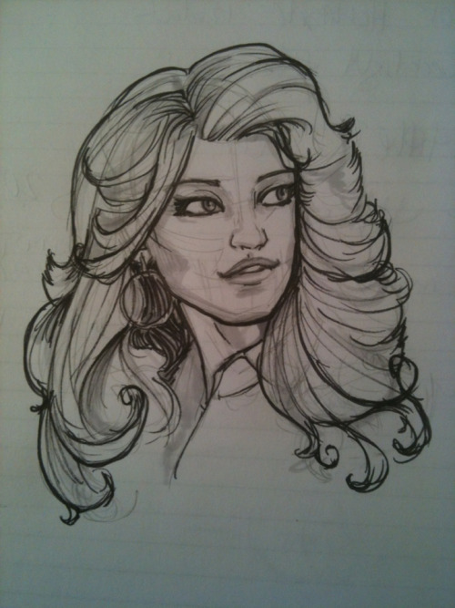 Desk Sketch #108  More Dolly Parton love
