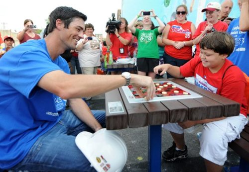 The Hamels Foundation unveiled a Play Yard project today at Bayard Taylor Elementary School in Philly.