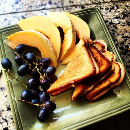 Lunch is served #currentstatus #lunchtime #fruit #grillcheese #foodporn #food #healthy #life #health  (Taken with Instagram)
