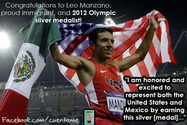 Congratulations to Leo Manzano, proud immigrant, and 2012 #Olympic silver medalist!