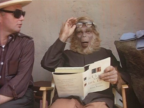 iateabee:  Behind the Scenes at Planet of the Apes, 1967.