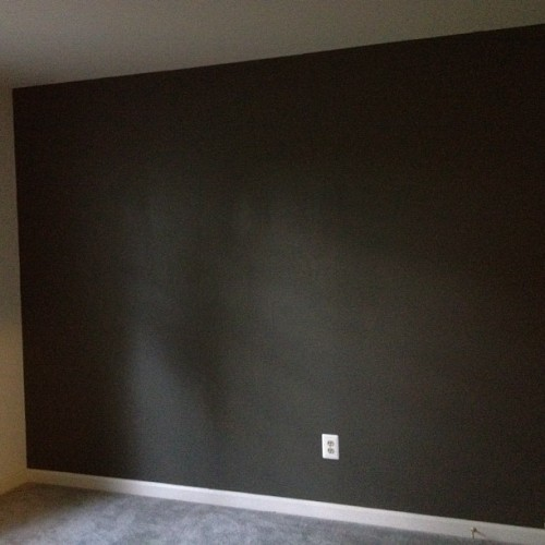 Uh! Cast Iron grey, sahhnn! My room is finished! (Taken with Instagram)