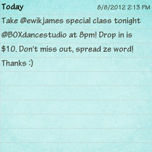 Come support my Kuya and take his class tonight at the BOX! :) (Taken with Instagram)