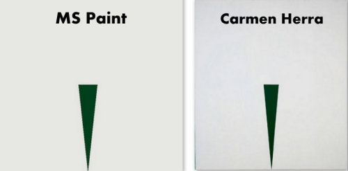 Another Carmen Herrera vs. MS Paint