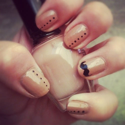 We mustache you a question - aren't these nails by Samm H. so cute?
