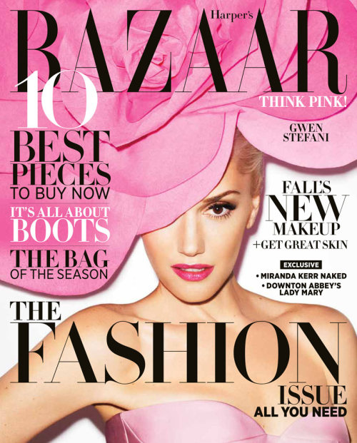 blackstuddedfashion: Gwen Stefani covers Harper's Bazaar US September 2012