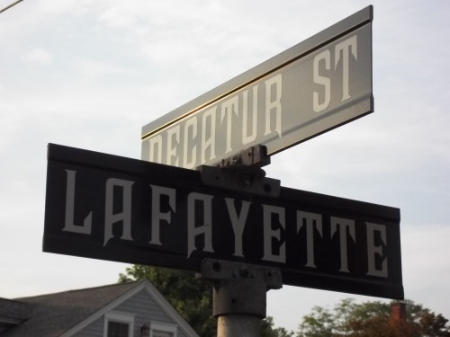 the awesome font on cape may street signs