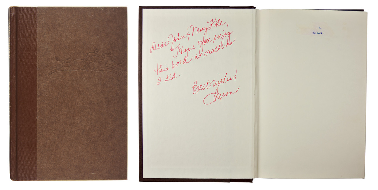 "John & Mary Kate ""Dear John & Mary Kate, I hope you enjoy this book as much as I did. Best wishes, Susan"" The EdgeDick Francis1988, G. P. Putnam's Sons"
