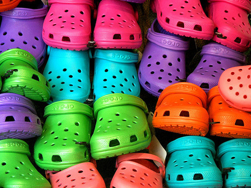 Colourful Crocs.
