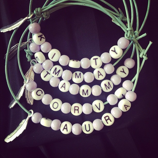 Made friendship bracelets today 💜 (Taken with Instagram)