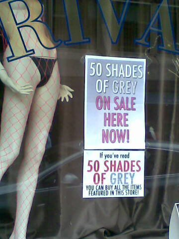 ravenvswritingdesk:  So '50 Shades of Grey' has revolutionised distribution. It's getting advertised and sold in a ton of places such as: Private 68 (a sex shop in the middle of Sheffield, with minimalist window displays) stock the book but they're making it part of a whole new marketing strategy! 'If you've read 50 Shades of Grey you can buy all the featured items in this store.'  sdjskdjks I wanna go D;