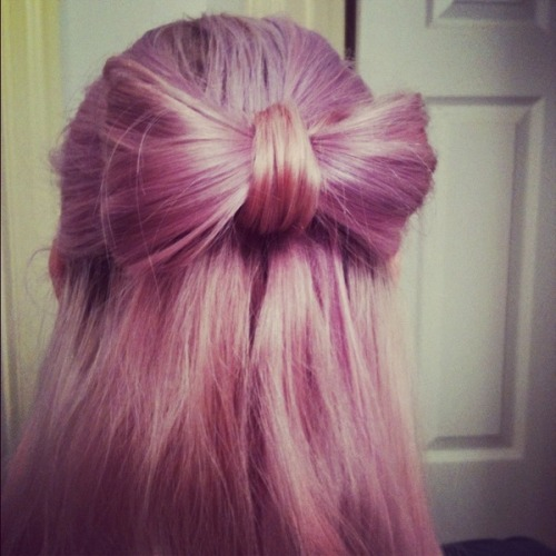 Ally S. created a cute hair bow - what fun things have you tried with your hair this summer?