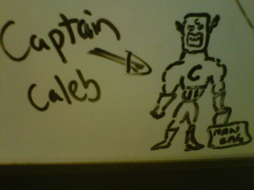 Why my colleague drew this I have no idea. But this apparently is what people at TWSS think of me.
