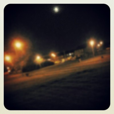 #moon #sky #street #streetlights #walking #outside  (Taken with Instagram)
