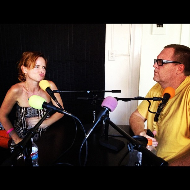 "feralaudio:  It's @steveagee and @juliettelewis in the studio for the relaunch of Steve Agee's ""Uhhh"" podcast! Coming soon! http://instagr.am/p/OFhG-AOB6P/"