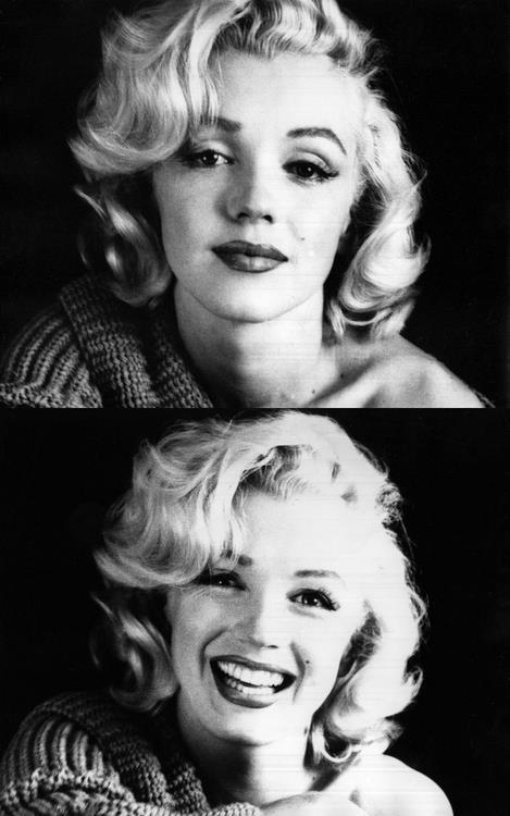 I love that vulnerability in the first photo. Marilyn, eternal.