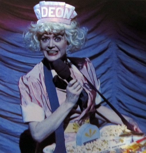 Patricia Quinn back on the stage as The Usherette - a special guest star during a run of the stage musical in London for the 25th Anniversary, titled Richard O'Brien's The New Rocky Horror Show